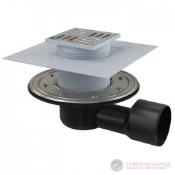 Alcaplast APV3344 Сифон подов рогов с клапа за сух и мокър затвор