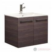 Atria Wood 65 шкаф за баня с мивка 650x500x450мм, 2 врати с плавно затваряне, цвят дървесен декор