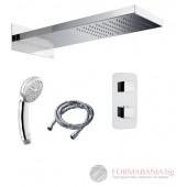 Bossini Manhattan Душ система с пита, ръчен душ и термостатен смесител M90799