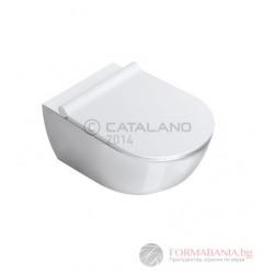 Catalano Sfera 54 - Стенна тоалетна с капак със забавено падане /1VSF54A0+5SCSTP/