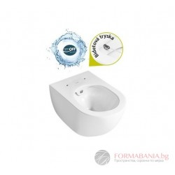 Creavit Rim Off - Висяща тоалетна чиния с биде 51x35,5см