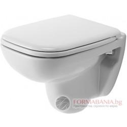 Висяща тоалетна комплект компакт с капак със забавено Duravit D-Code