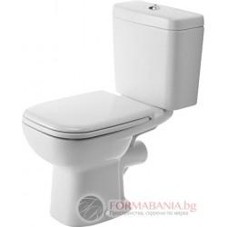 Duravit D-CODE Тоалетна чиния за моноблок със задно отичане 21110900002