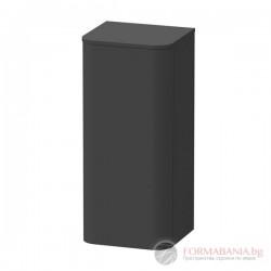 Duravit Happy D.2 Plus Висок шкаф за баня, графит супермат, L-ляв, 400х360х880мм