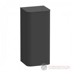 Duravit Happy D.2 Plus Висок шкаф за баня, графит супермат, R-десен, 400х360х880мм