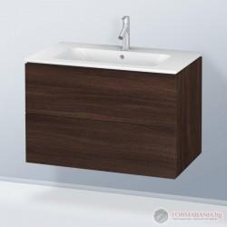 Duravit LC624105353 Стенен шкаф за мивка с 2 чекмеджета, тъмен кестен