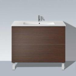 Duravit LC662706969 Луксозен стоящ шкаф за баня с 2 чекмеджета, цвят орех