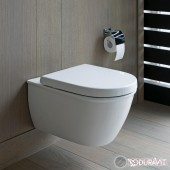 Duravit Darling New Rimless Конзолна тоалетна чиния с отворен ръб 2557090000