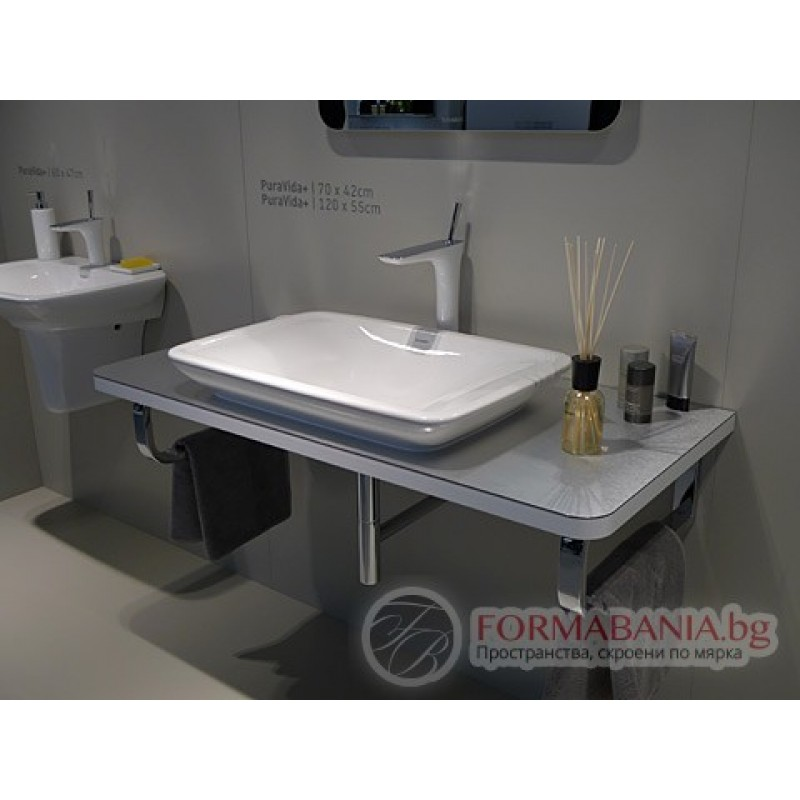 duravit puravida 70x50cm 2700700000. Black Bedroom Furniture Sets. Home Design Ideas