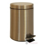 Кош за тоалетна с педал DIAMOND, бронз, 3 литра, XJ011