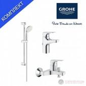 Grohe 123907 Bauflow Промо Комплект смесители и душ окачване