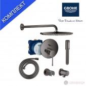 Grohe Essence Комплект душ система за вграждане, графит