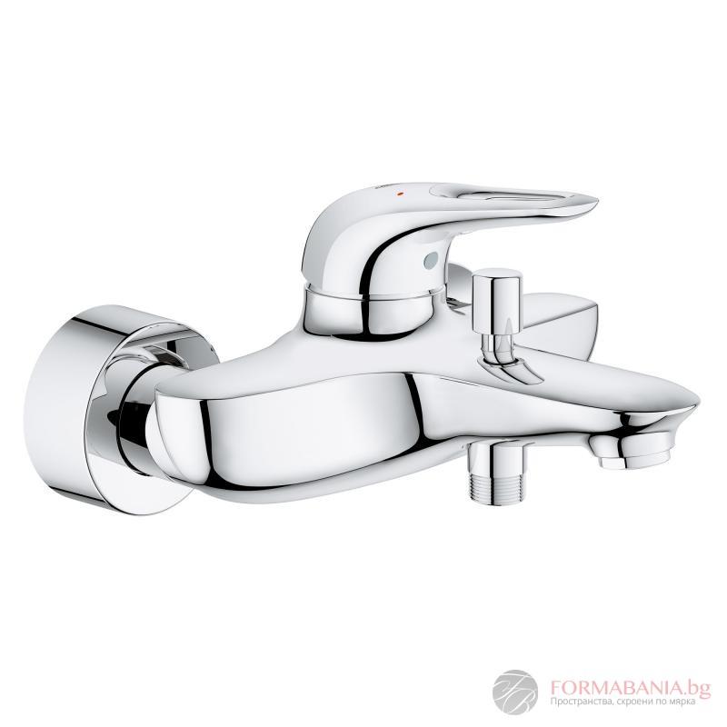 Grohe Eurostyle single lever bath mixer, wall-mounted chrome 33591003