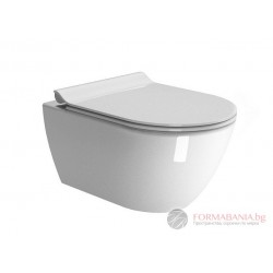 GSI PURA WC Swirlflush Конзолна тоалетна чиния с отворен ръб  55*36см. 881511
