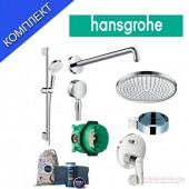 Hansgrohe Crometta Logis PLUS Промо комплект душ система за вграждане с подарък от NIVEA