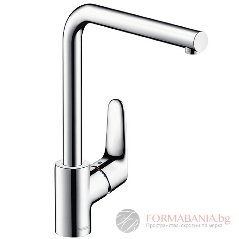 hansgrohe focus single lever kitchen mixer with swivel spout chrome 31817000. Black Bedroom Furniture Sets. Home Design Ideas
