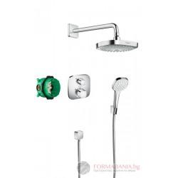 Hansgrohe Desig Душ комплект Croma Select E Душ система за вграждане с термостат 27294000