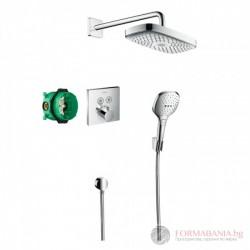 Hansgrohe Desig Душ комплект Raindance Select E Душ система за вграждане с термостат 27296000HG
