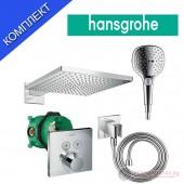Душ система с термостатен смесител за вграждане Hansgrohe Raindance Select