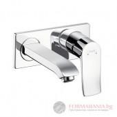 Hansgrohe Metris Смесител за вграждане за мивка с чучур 31086000