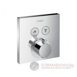 Hansgrohe ShowerSelect термостат за вграждане с два изхода външна част15763000
