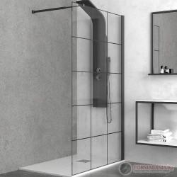 Черен душ параван за баня Karag Nero Free
