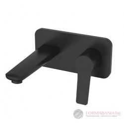 Черен смесител за вграждане за мивка Karag WNX148073PA