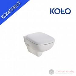 Kolo Style Висяща тоалетна чиния в комплект със седалка Set 2