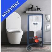 Комплект тоалетна чиния без ръб и казанче Grohe Avva