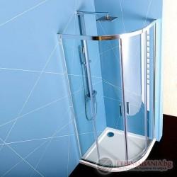 Душ кабина овална 900х900мм 6мм закалено прозрачно стъкло