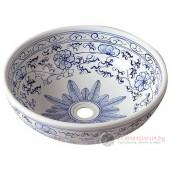 PRIORI Мивка тип купа цвят-  WHITE/BLUE  Ф42