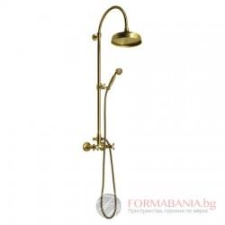 Antea Ретро душ система за баня с пита и слушалка, бронз, SET036