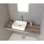 Дървен плот за мивка MDF Avice, орех, 70x50см AV073