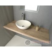 Дървен плот за мивка MDF Avice, дъб, 70x50cm, AV074
