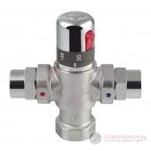 Термостатен смесител за вода с голям дебит (4-8 точки за подаване), хром