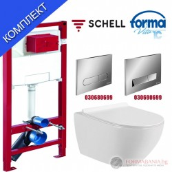 Комплект структура за вграждане Schell и висяща тоалетна чиния Forma Vita M-103
