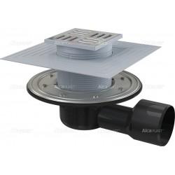 Alcaplast Сифон подов рогов с клапа за сух и мокър затвор, APV3344