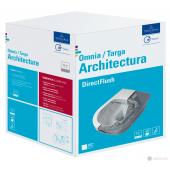 Комплект Villeroy & Boch Architectura DirectFlush Висяща тоалетна комплект със седалка и капак 5684HR01