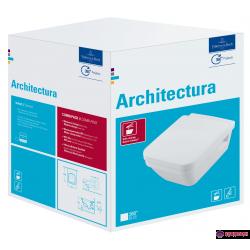 Комплект Villeroy & Boch Architectura Конзолна тоалетна със седалка и капак DirectFlush 5685HR01
