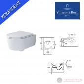 Villeroy & Boch Soul 4656HR01 Окачена тоалетна с тънък капак със забавено падане