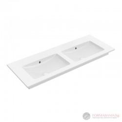 Villeroy & Boch Venticello - Двойна мивка за баня за свободен монтаж или мебел 4111DJR1