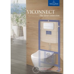 Villeroy & Boch ViConnect - Казанче за вграждане в комплект с бутон хром, 922461+92249061
